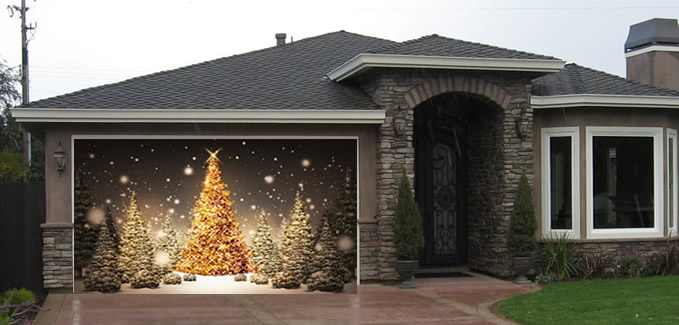 how to turn your garage into a christmas grotto